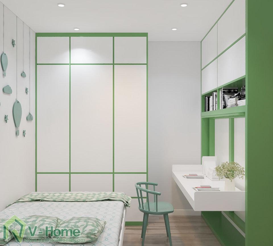 thiet-ke-phong-ngu-tre-em-4 Thiết kế nội thất phòng ngủ thông minh - Royal City