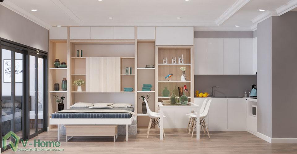 thiet-ke-officetel-r6-royal-city-1 Thiết kế nội thất căn hộ R6 Royal City - A. Hùng