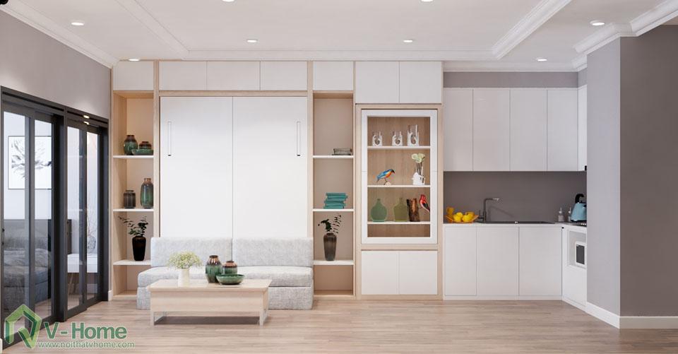 thiet-ke-officetel-r6-royal-city-2 Thiết kế nội thất căn hộ R6 Royal City - A. Hùng