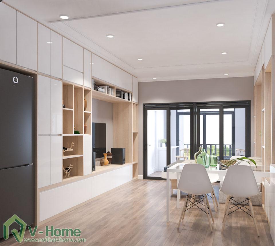 thiet-ke-officetel-r6-royal-city-3 Thiết kế nội thất căn hộ R6 Royal City - A. Hùng