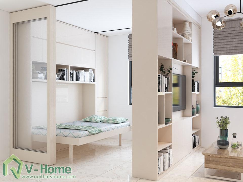 thiet-ke-khong-gian-thong-minh-4 Căn hộ thông minh Sài Gòn Intela biến phòng khách thành phòng ngủ