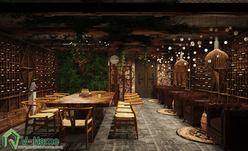 thiet-ke-noi-that-ham-ruou-1 Thiết kế nội thất hầm rượu biệt thự Tràng An Complex