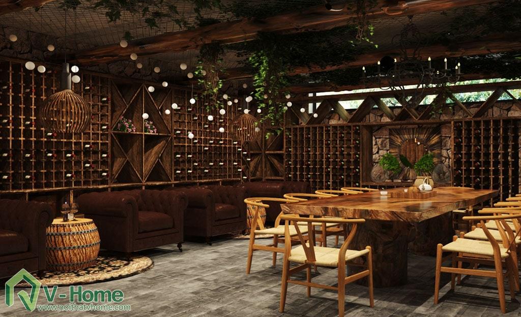 thiet-ke-noi-that-ham-ruou-2 Thiết kế nội thất hầm rượu biệt thự Tràng An Complex