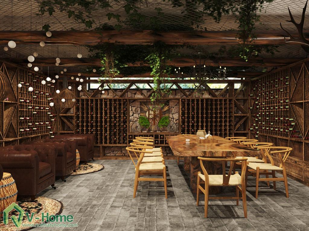 thiet-ke-noi-that-ham-ruou-5 Thiết kế nội thất hầm rượu biệt thự Tràng An Complex