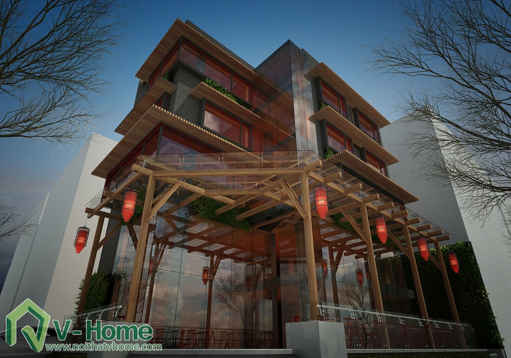 1-1 Thiết kế kiến trúc New Life Restaurant