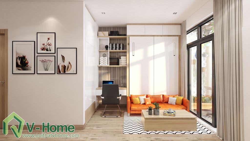 1 Thiết kế nội thất căn hộ Officetel Green Bay Mễ Trì - C. Liên
