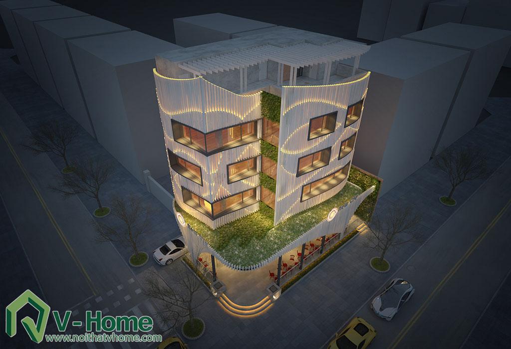 13 Thiết kế kiến trúc New Life Restaurant