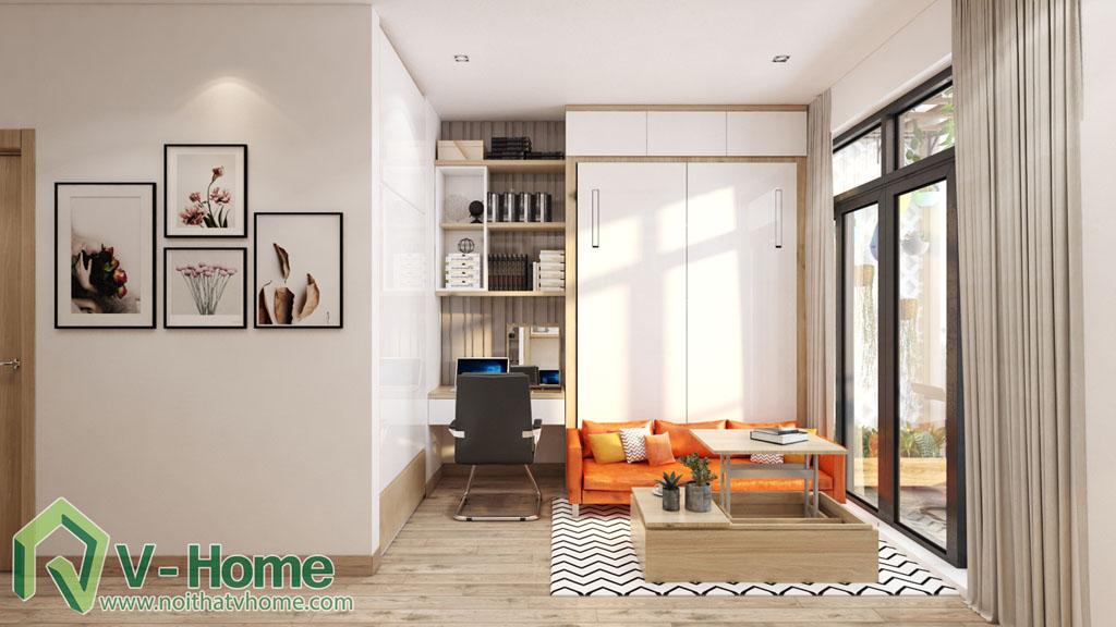 2 Thiết kế nội thất căn hộ Officetel Green Bay Mễ Trì - C. Liên