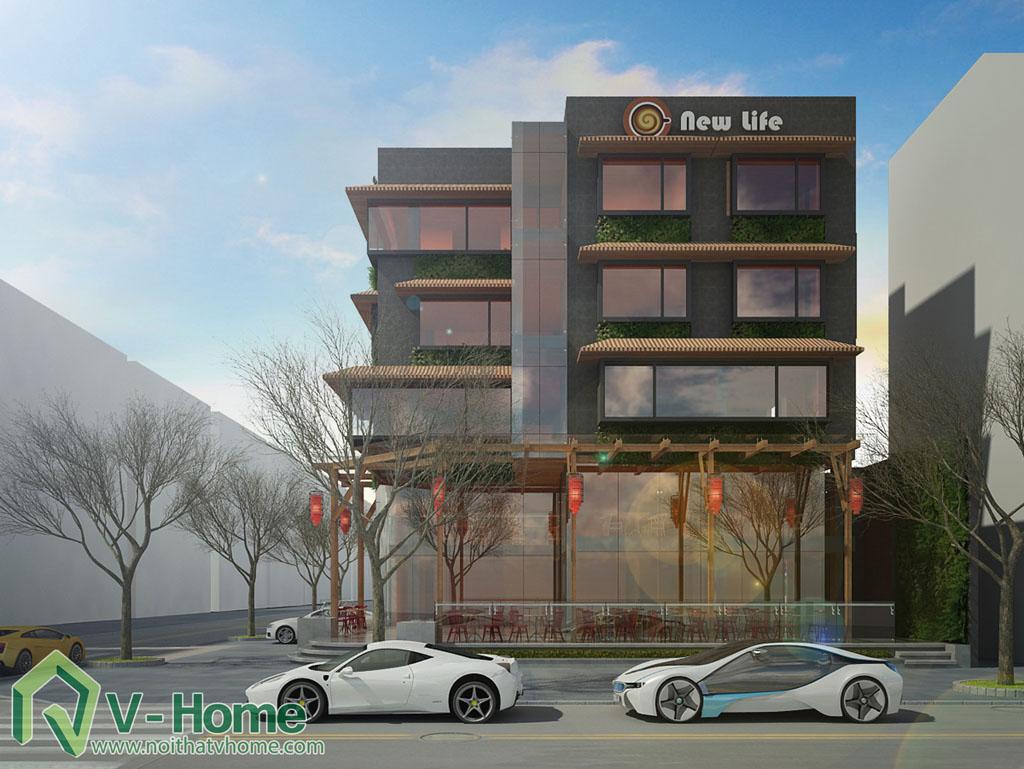 3 Thiết kế kiến trúc New Life Restaurant