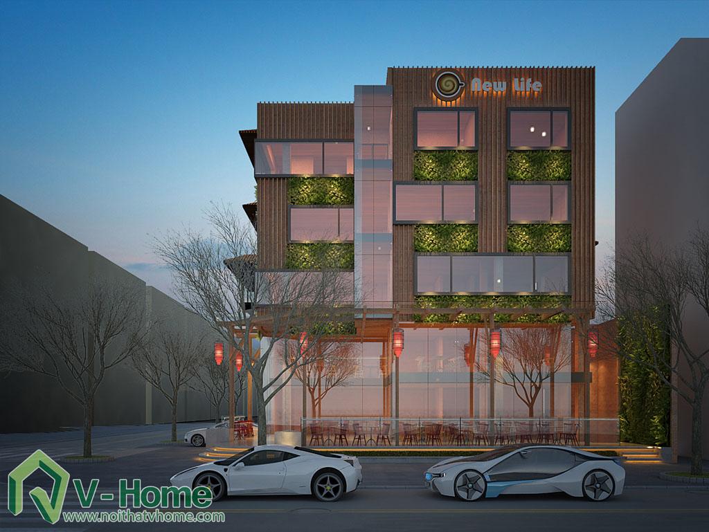 5-1 Thiết kế kiến trúc New Life Restaurant
