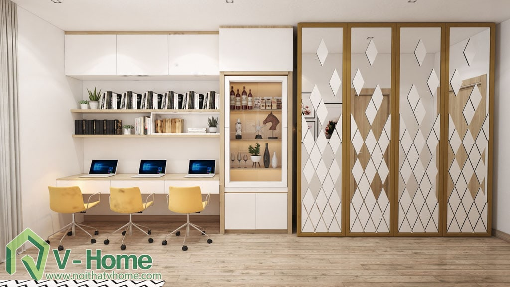 5 Thiết kế nội thất căn hộ Officetel Green Bay Mễ Trì - C. Liên