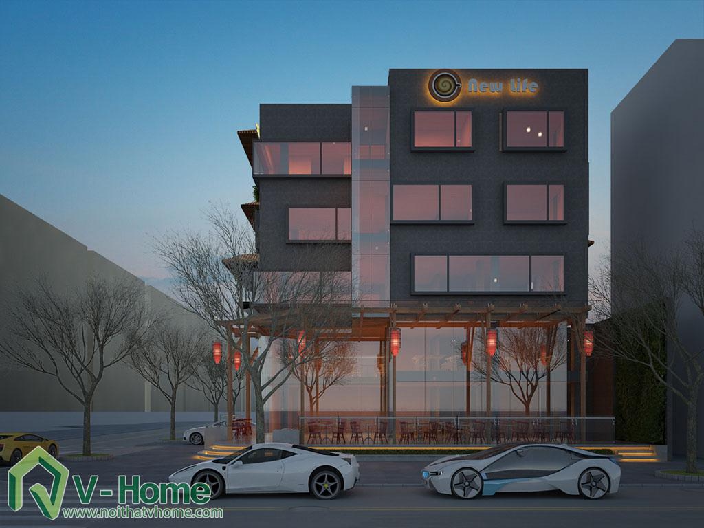 6-1 Thiết kế kiến trúc New Life Restaurant