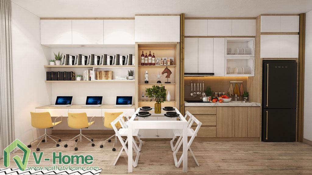 6 Thiết kế nội thất căn hộ Officetel Green Bay Mễ Trì - C. Liên