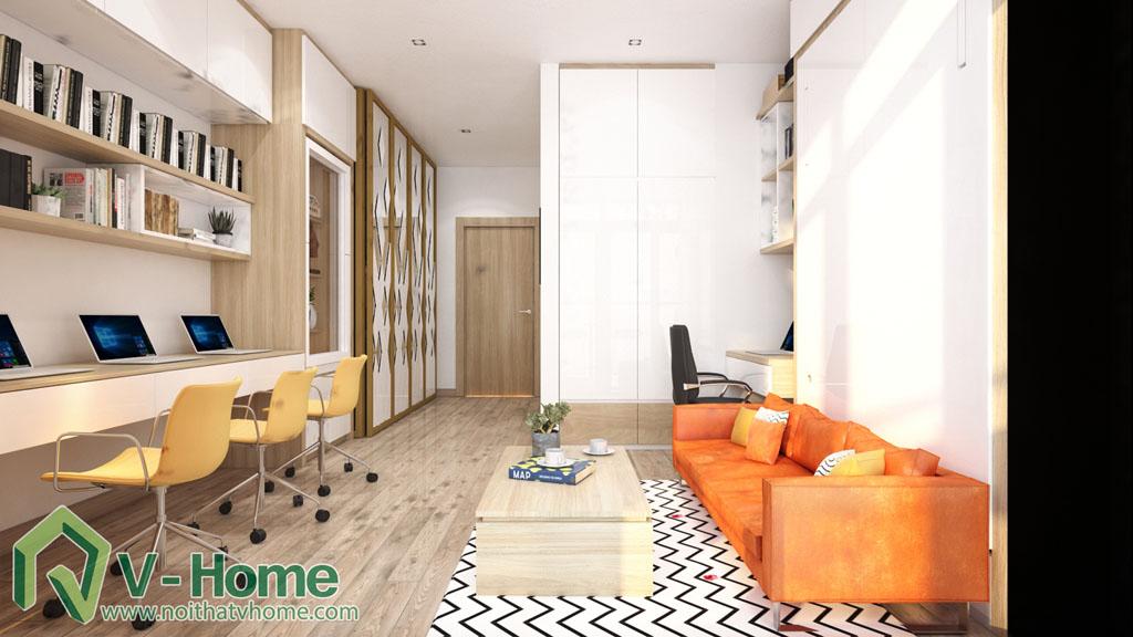 7 Thiết kế nội thất căn hộ Officetel Green Bay Mễ Trì - C. Liên