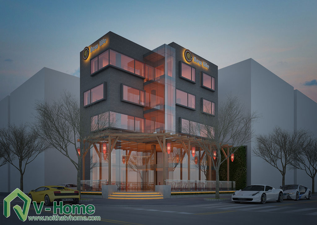 8 Thiết kế kiến trúc New Life Restaurant