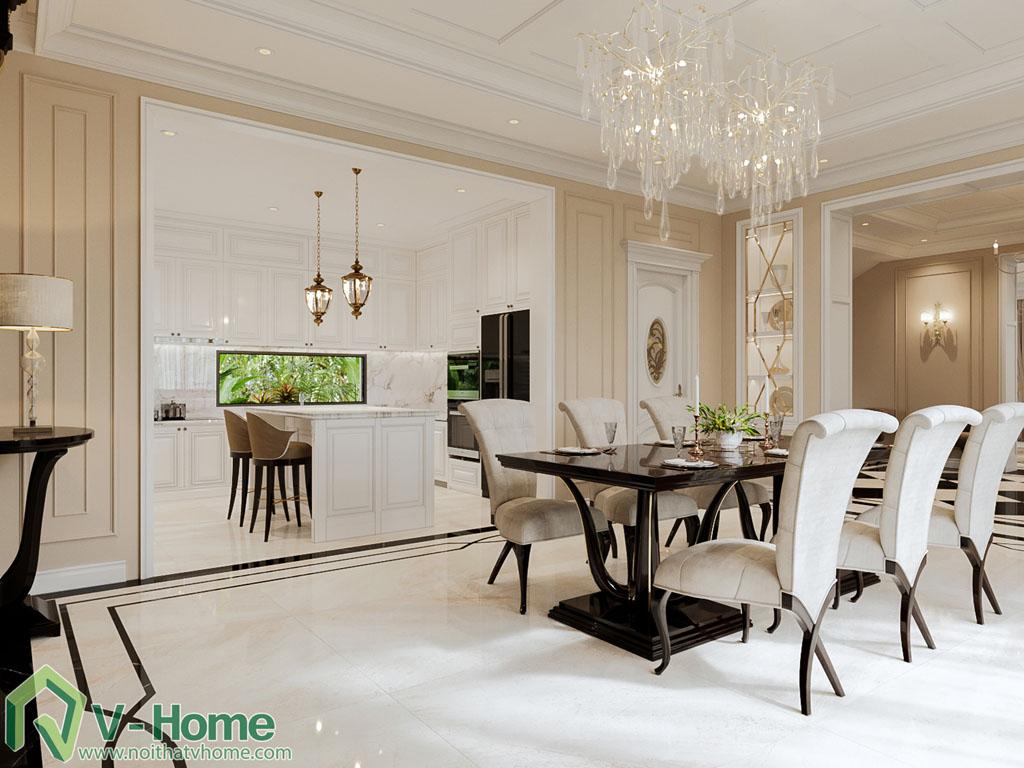 thiết kế phòng khách biệt thự vinhomes riverside