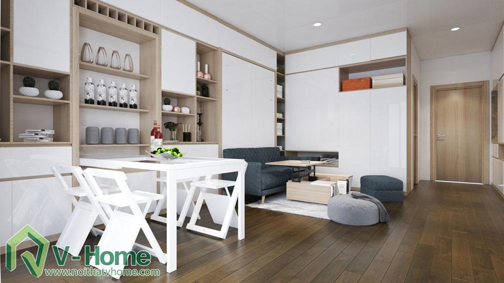 thiet-ke-noi-that-can-ho-soho-dcapitale-5 Thiết kế nội thất chung cư căn hộ SOHO Vinhomes D'Capitale