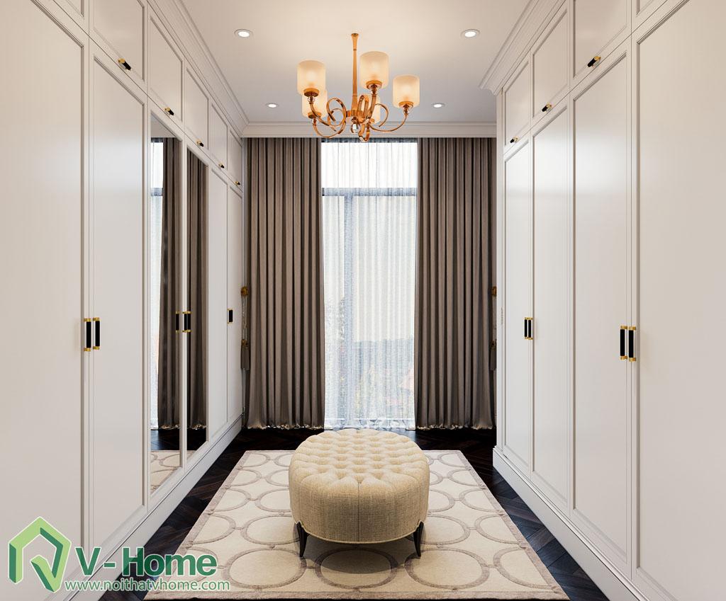 thiết kế phòng thay đồ biệt thự vinhomes riverside