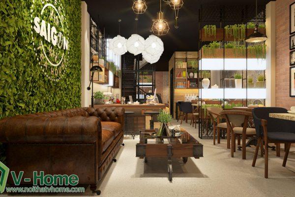 Thiết kế không gian Coffee Tea House