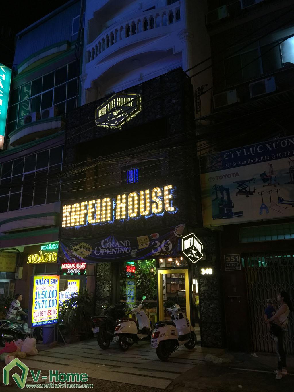 Thi công không gian Cafe Kafein House -1
