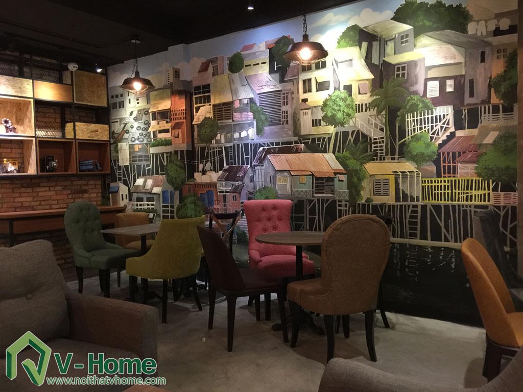 Thi công không gian Cafe Kafein House -10