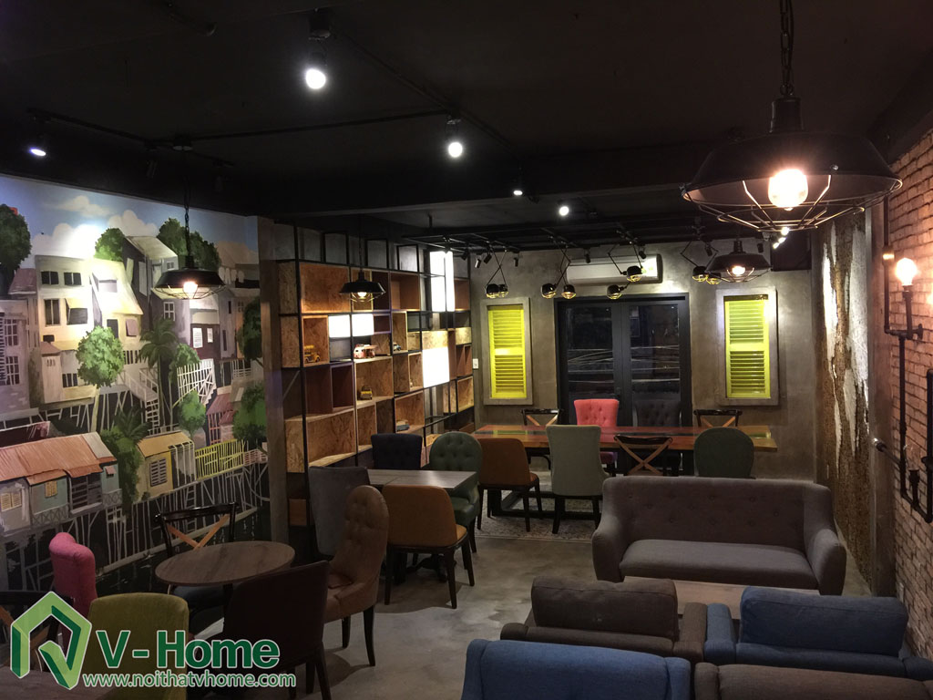 Thi công không gian Cafe Kafein House -7