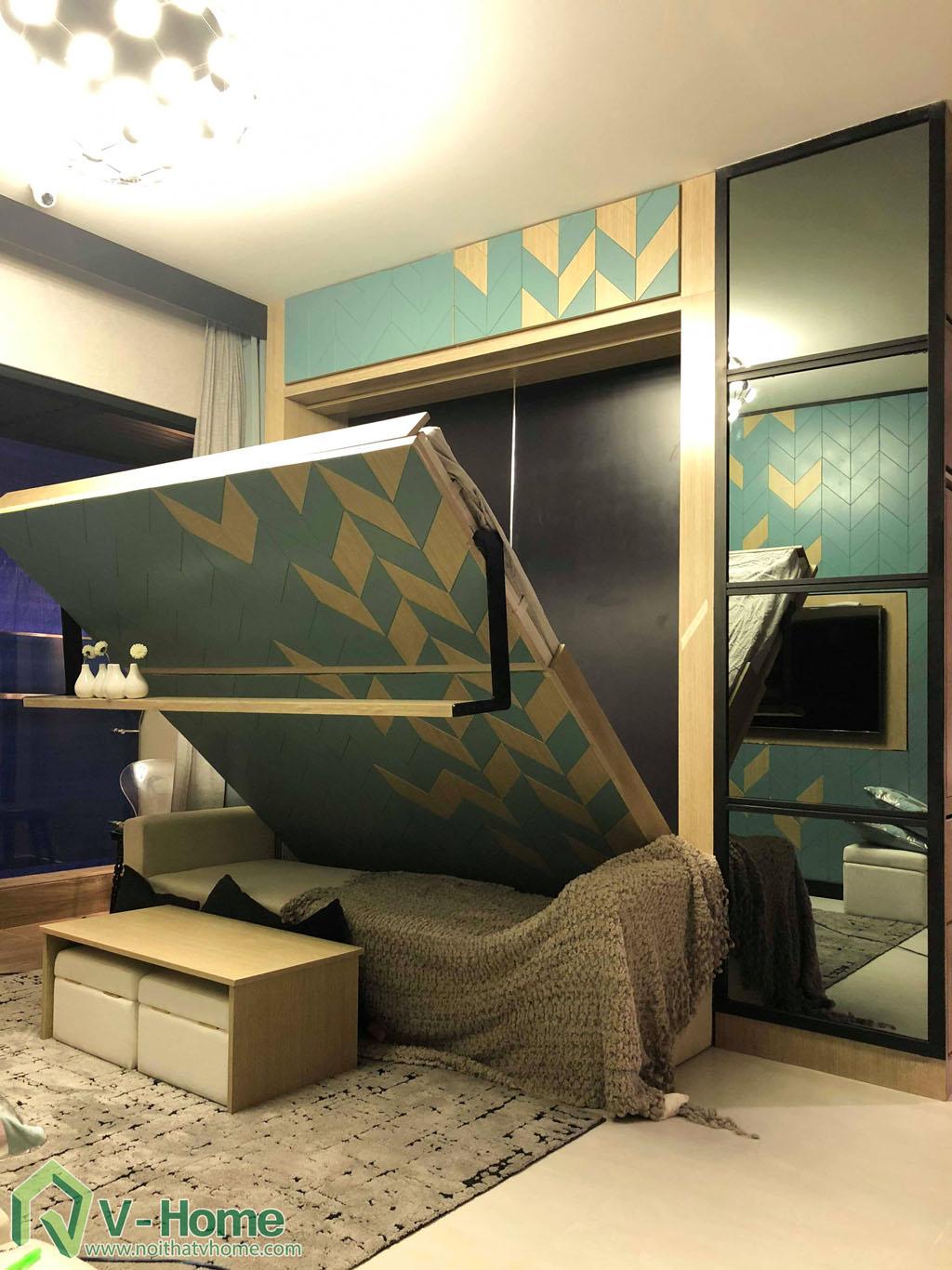 1.thi-cong-phong-khach-chung-cu-summer-2 Thi công nội thất chung cư Summer Residence Capitaland - 2 phòng ngủ