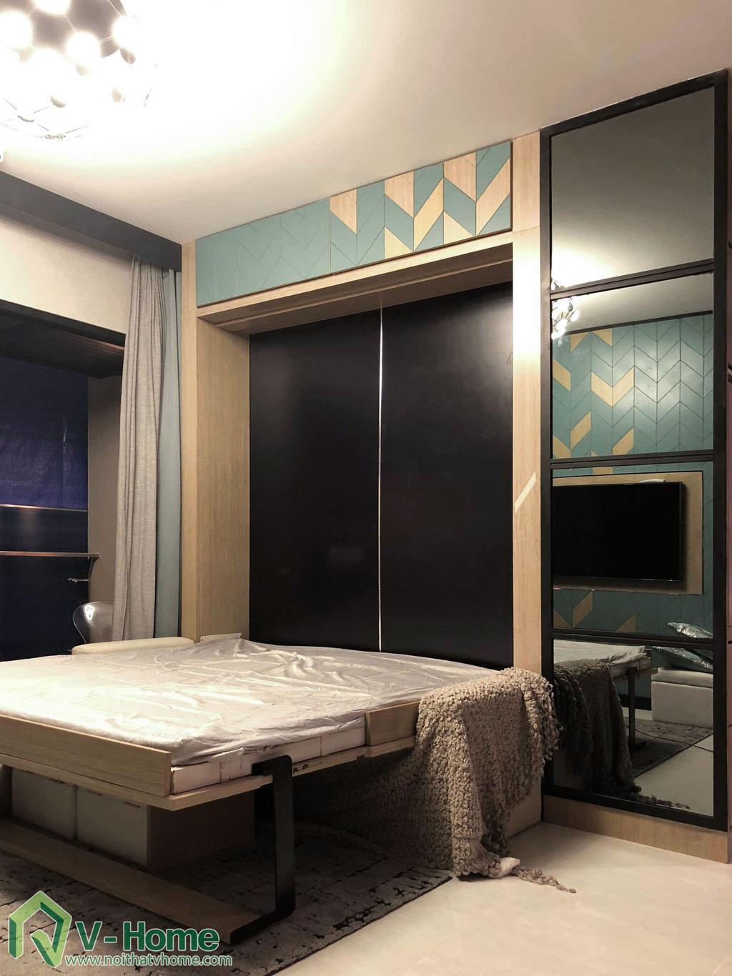 1.thi-cong-phong-khach-chung-cu-summer-3 Thi công nội thất chung cư Summer Residence Capitaland - 2 phòng ngủ