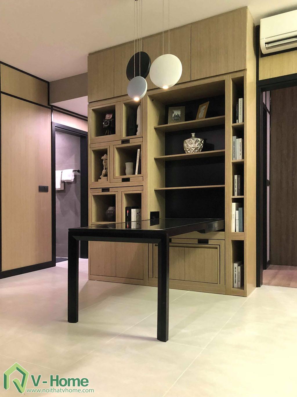 1.thi-cong-phong-khach-chung-cu-summer-5 Thi công nội thất chung cư Summer Residence Capitaland - 2 phòng ngủ