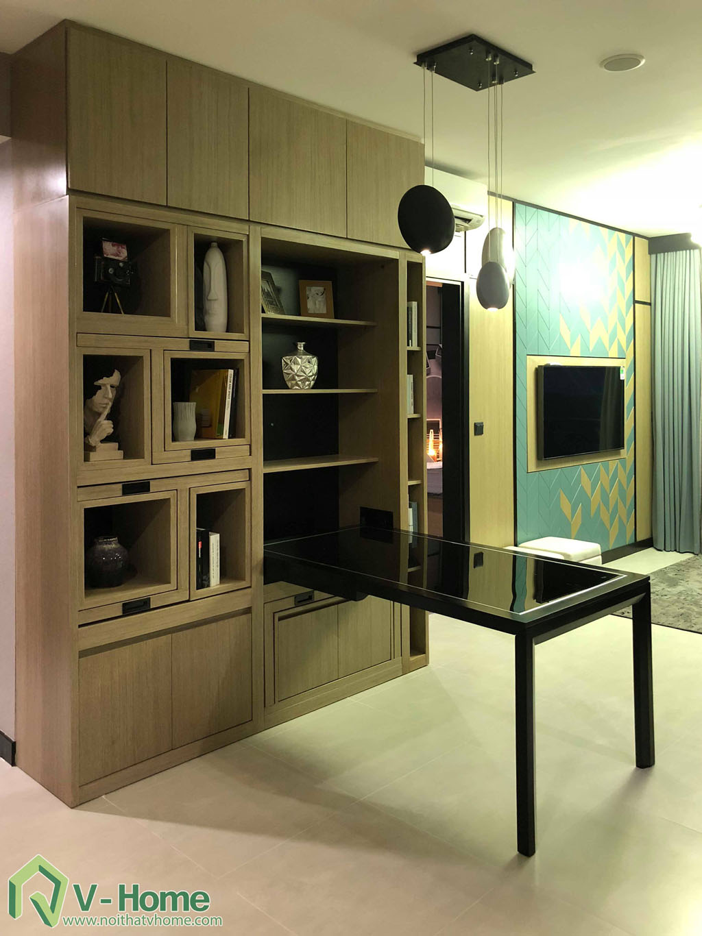 1.thi-cong-phong-khach-chung-cu-summer-6 Thi công nội thất chung cư Summer Residence Capitaland - 2 phòng ngủ