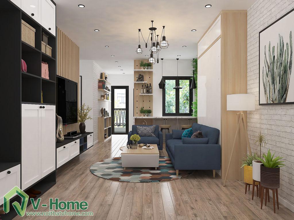 thiet-ke-phong-khach-chung-cu-him-lam-1 Thiết kế nội thất chung cư Him Lam Riverside - C. Oanh