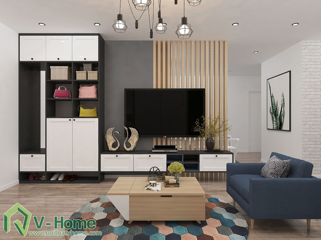 thiet-ke-phong-khach-chung-cu-him-lam-2 Thiết kế nội thất chung cư Him Lam Riverside - C. Oanh
