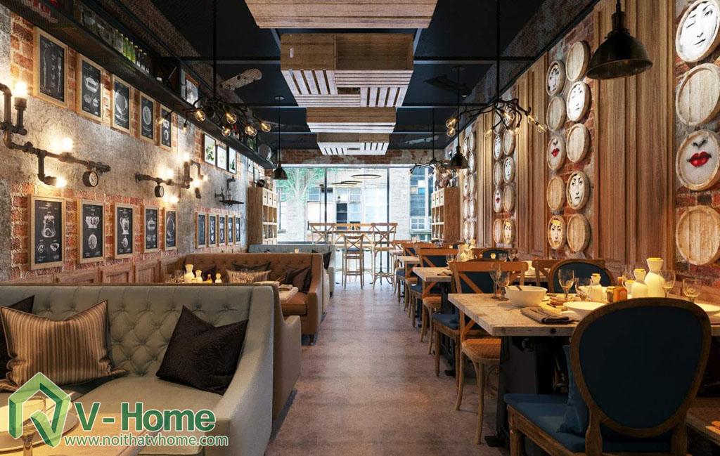 thiet-ke-vietface-restaurant-2 Thiết kế không gian VietFace Restaurant