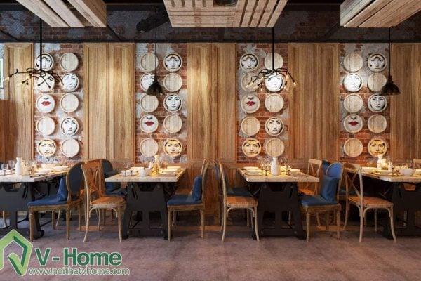 Thiết kế không gian VietFace Restaurant