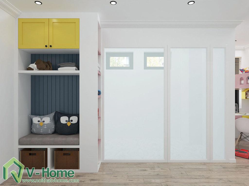 thiet-ke-phong-ngu-tre-em-biet-thu-vinhomes-gardenia-3 Thiết kế nội thất phòng ngủ trẻ em tuyệt đẹp