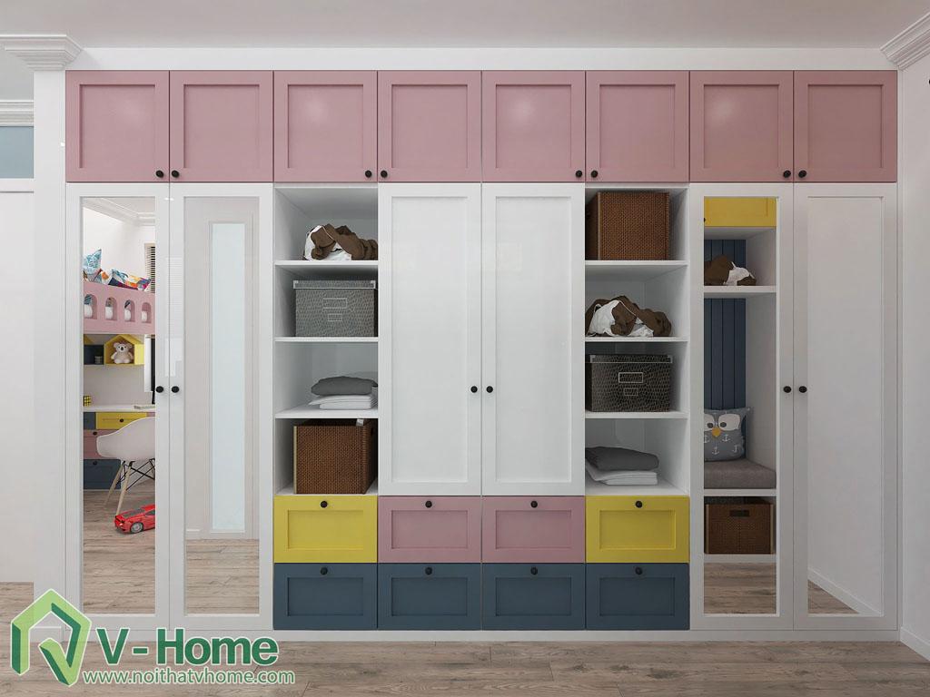 thiet-ke-phong-ngu-tre-em-biet-thu-vinhomes-gardenia-4 Thiết kế nội thất phòng ngủ trẻ em tuyệt đẹp