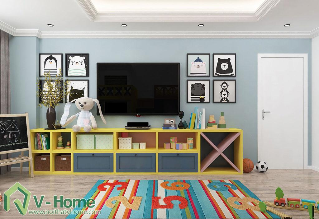 thiet-ke-phong-ngu-tre-em-biet-thu-vinhomes-gardenia-6 Thiết kế nội thất phòng ngủ trẻ em tuyệt đẹp