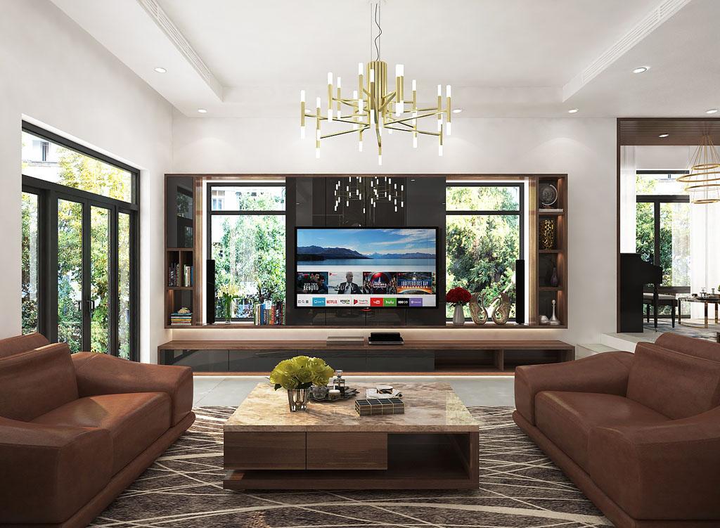 3.thiet-ke-biet-thu-trang-an-complex-khach-bep-3 [Tư vấn] Ý tưởng thiết kế nội thất phòng khách đẹp