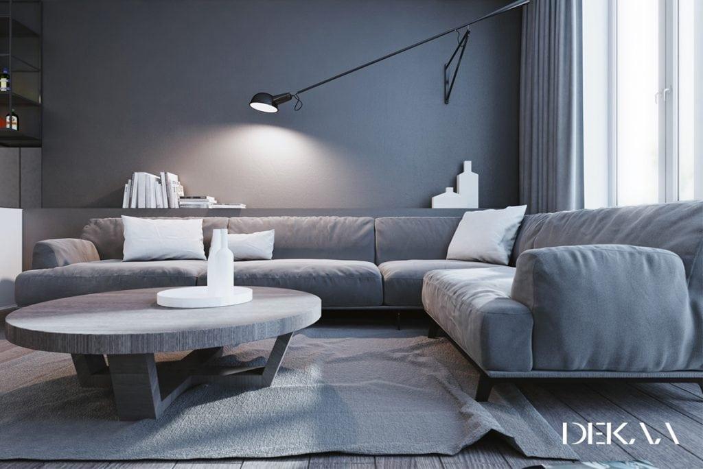Grey-rug-1024x684 [Tư vấn] Ý tưởng thiết kế nội thất phòng khách đẹp