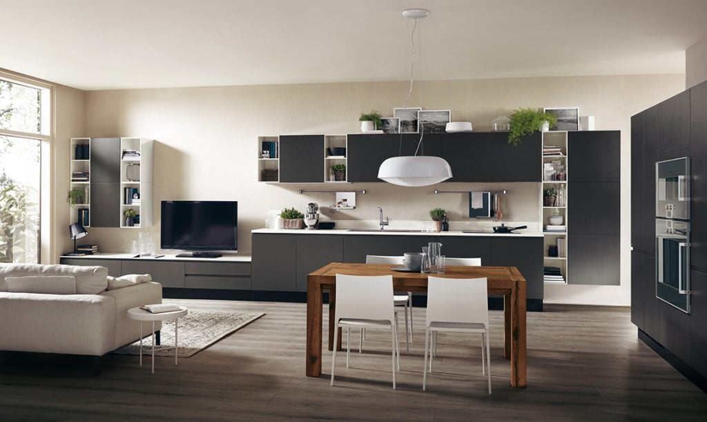 casafacile-cucina-in-soggiorno-SCAVOLINI_Motus7_alta-1024x611 Phong cách nội thất hiện đại trong thiết kế nhà ở hiện nay