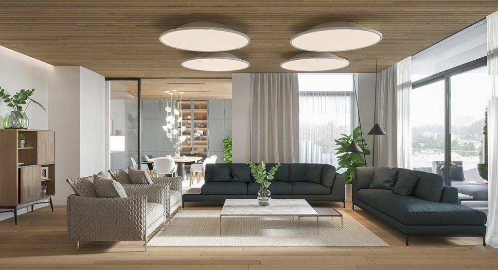 modern-living-room-with-light-wood-accents-1024x556 Phong cách nội thất hiện đại trong thiết kế nhà ở hiện nay