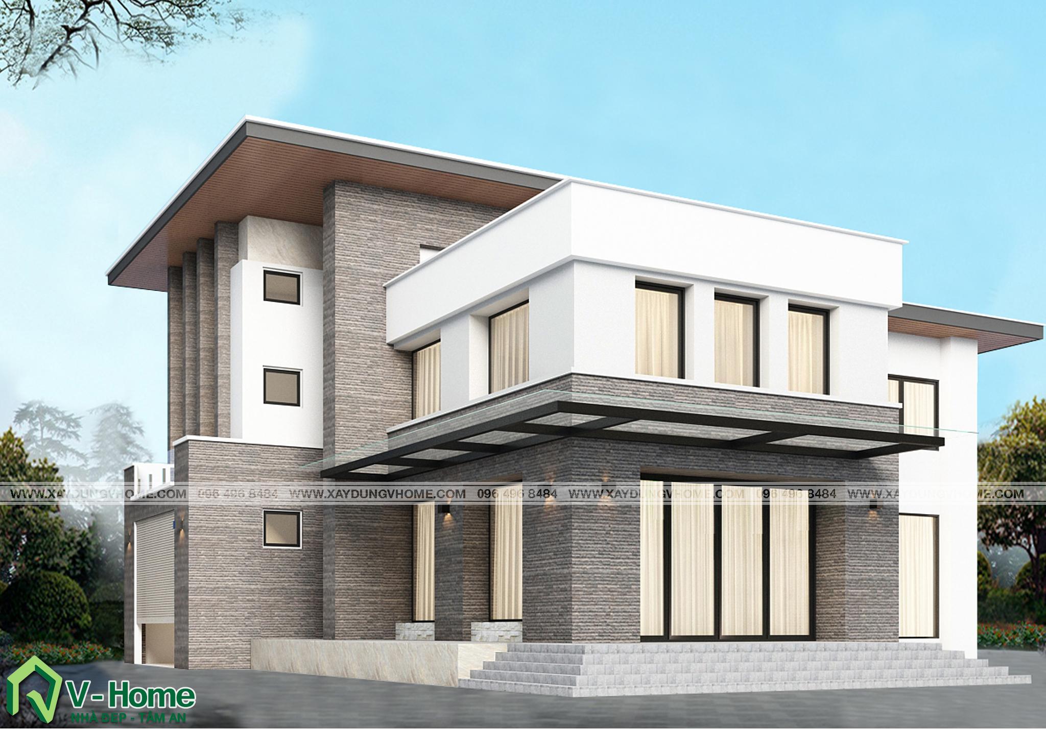thiet-ke-biet-thu-hien-dai-1-1 Thiết kế Biệt thự hiện đại tại Vĩnh Phúc - C. Huyền