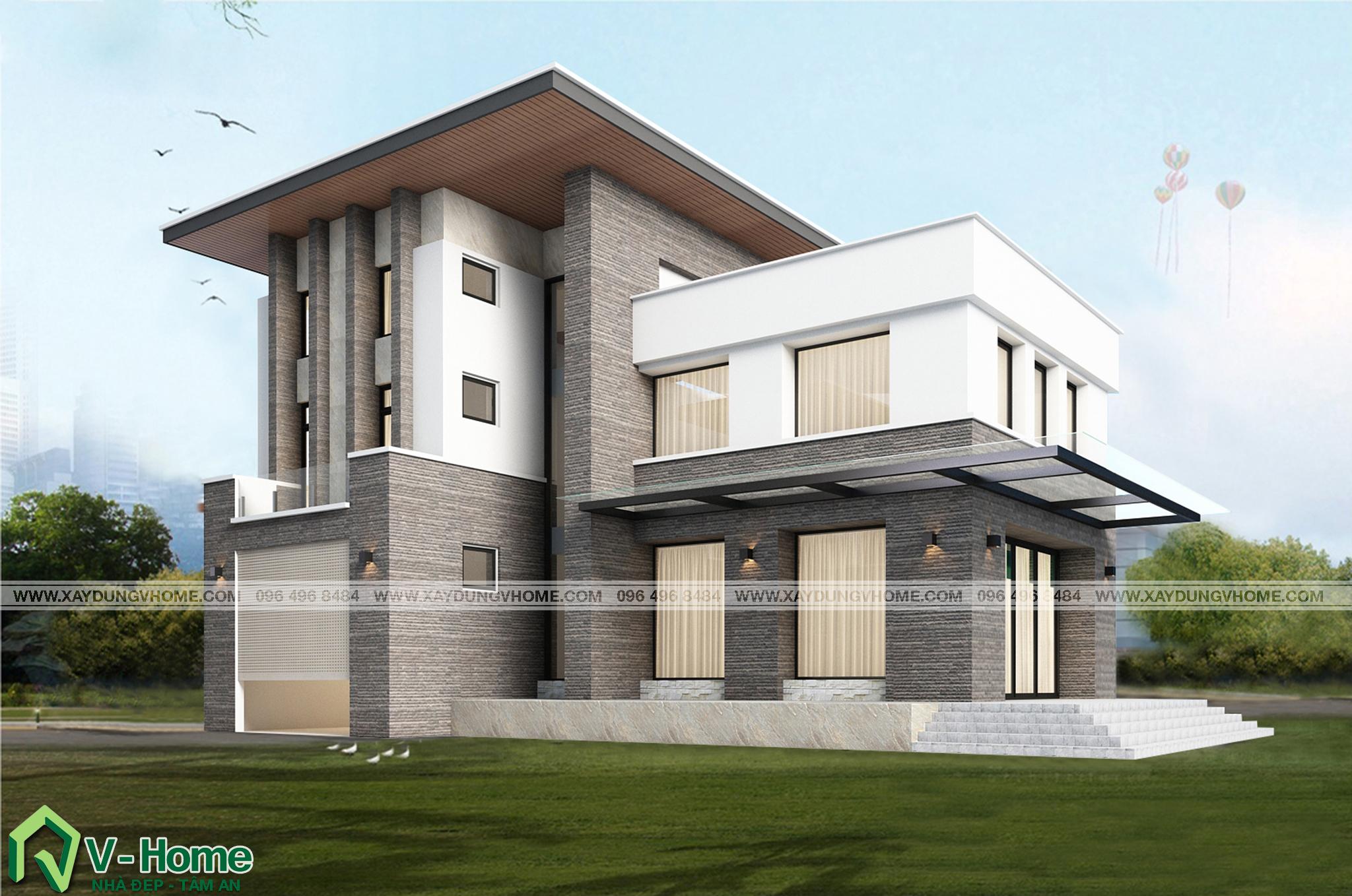 thiet-ke-biet-thu-hien-dai-2-1 Thiết kế Biệt thự hiện đại tại Vĩnh Phúc - C. Huyền