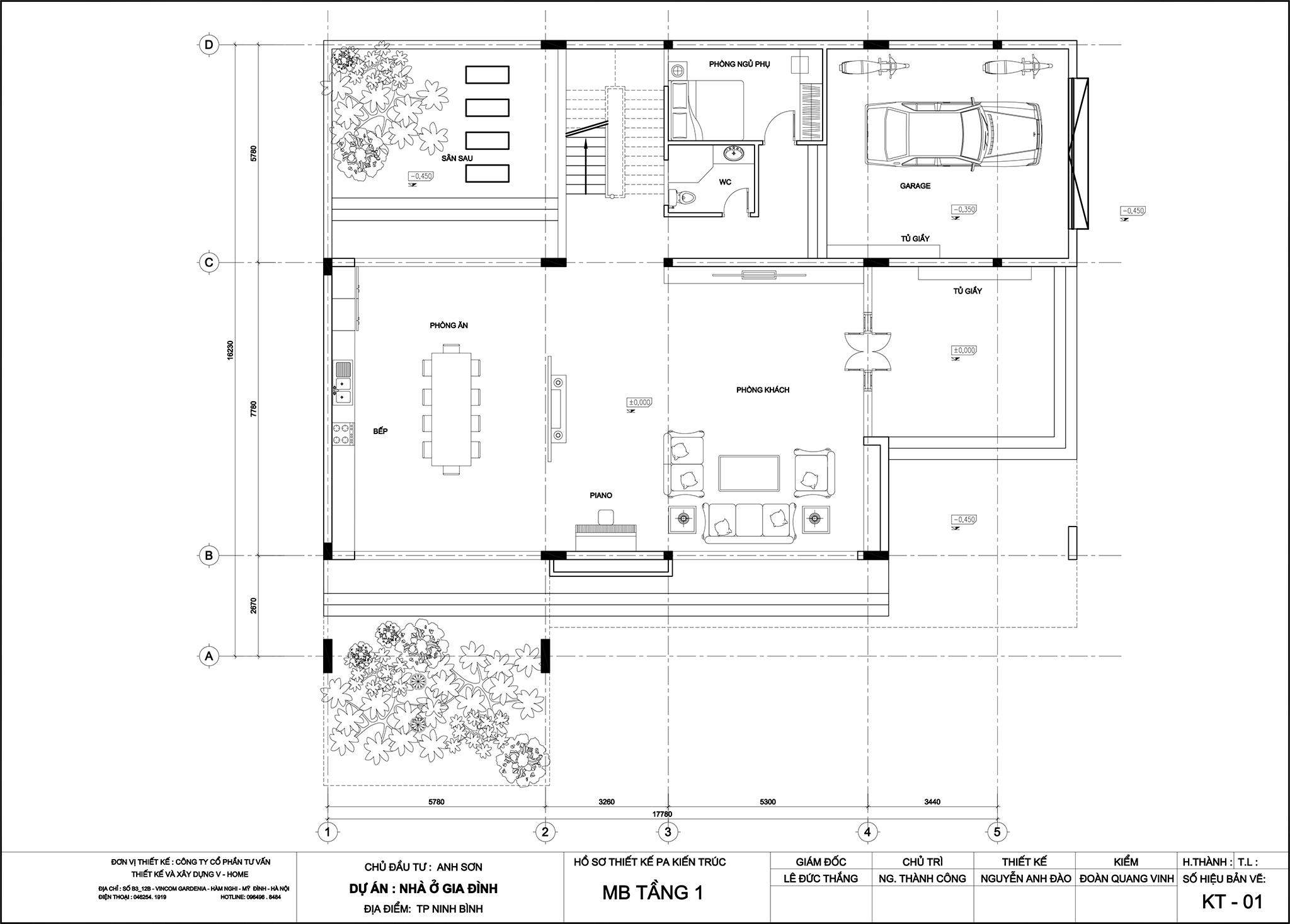 thiet-ke-biet-thu-hien-dai-4 Thiết kế Biệt thự hiện đại tại Ninh Bình - A. Sơn