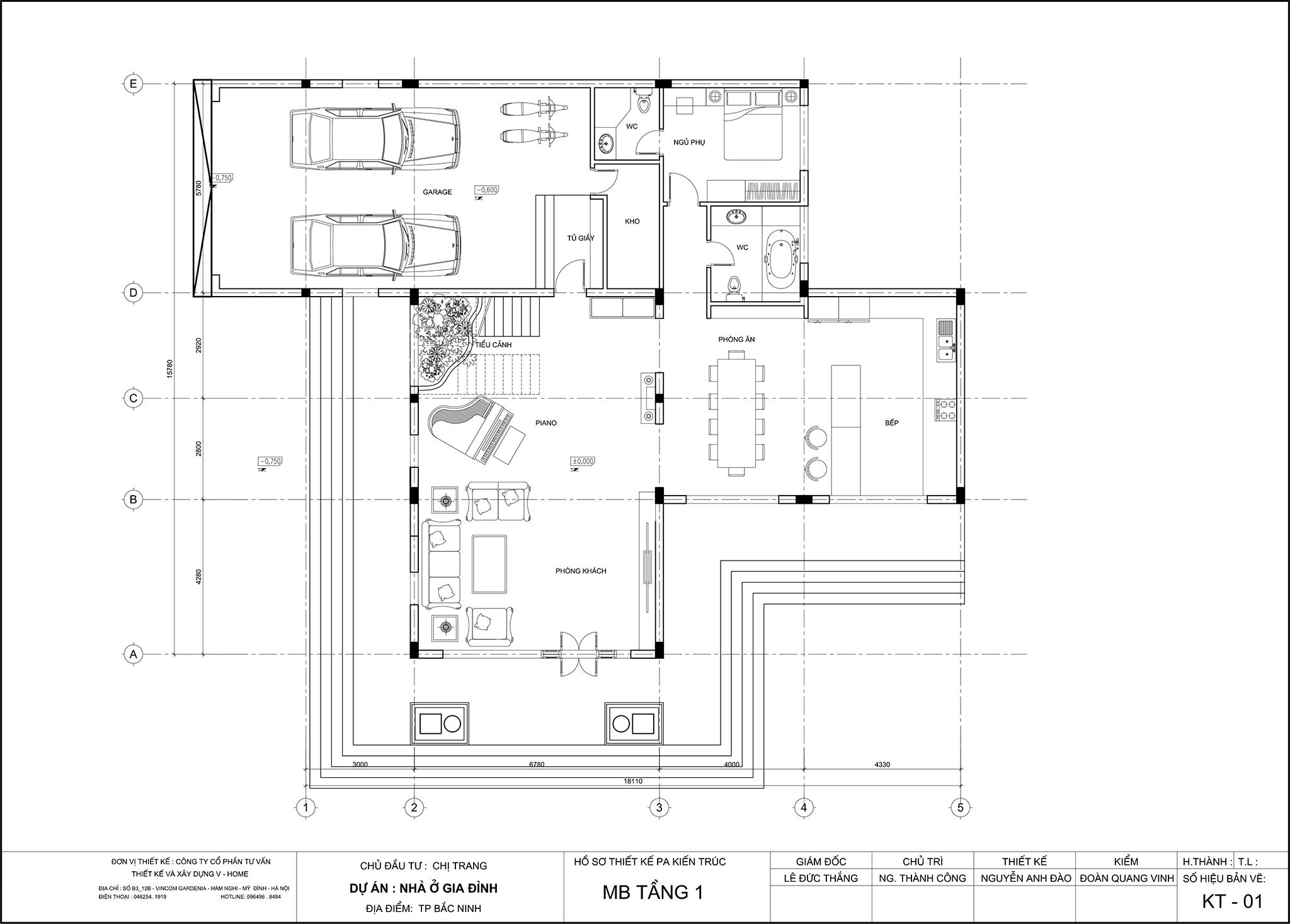 thiet-ke-biet-thu-tran-co-dien-3 Thiết kế Biệt thự tân cổ điển tại Bắc Ninh - C. Trang