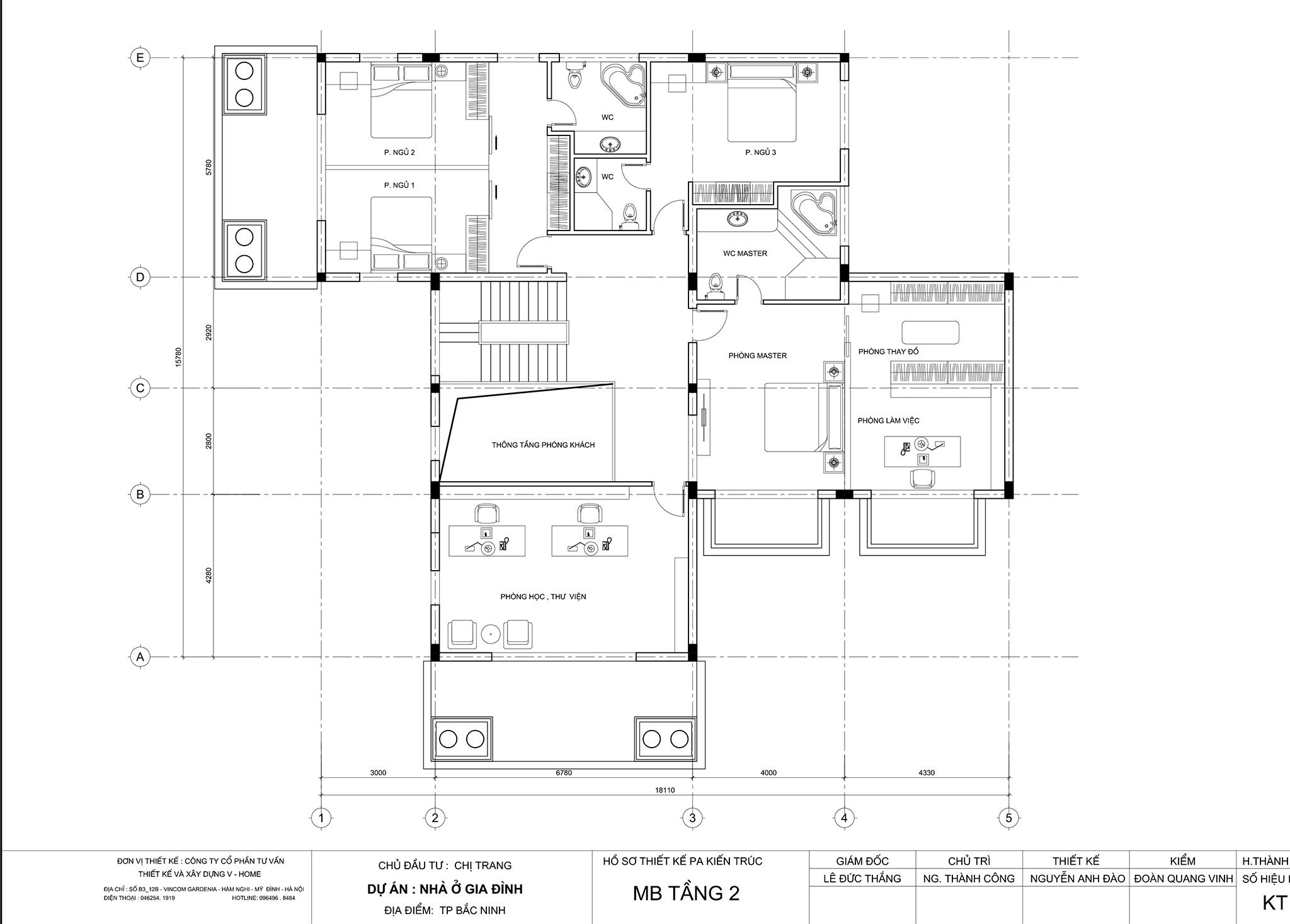 thiet-ke-biet-thu-tran-co-dien-4 Thiết kế Biệt thự tân cổ điển tại Bắc Ninh - C. Trang