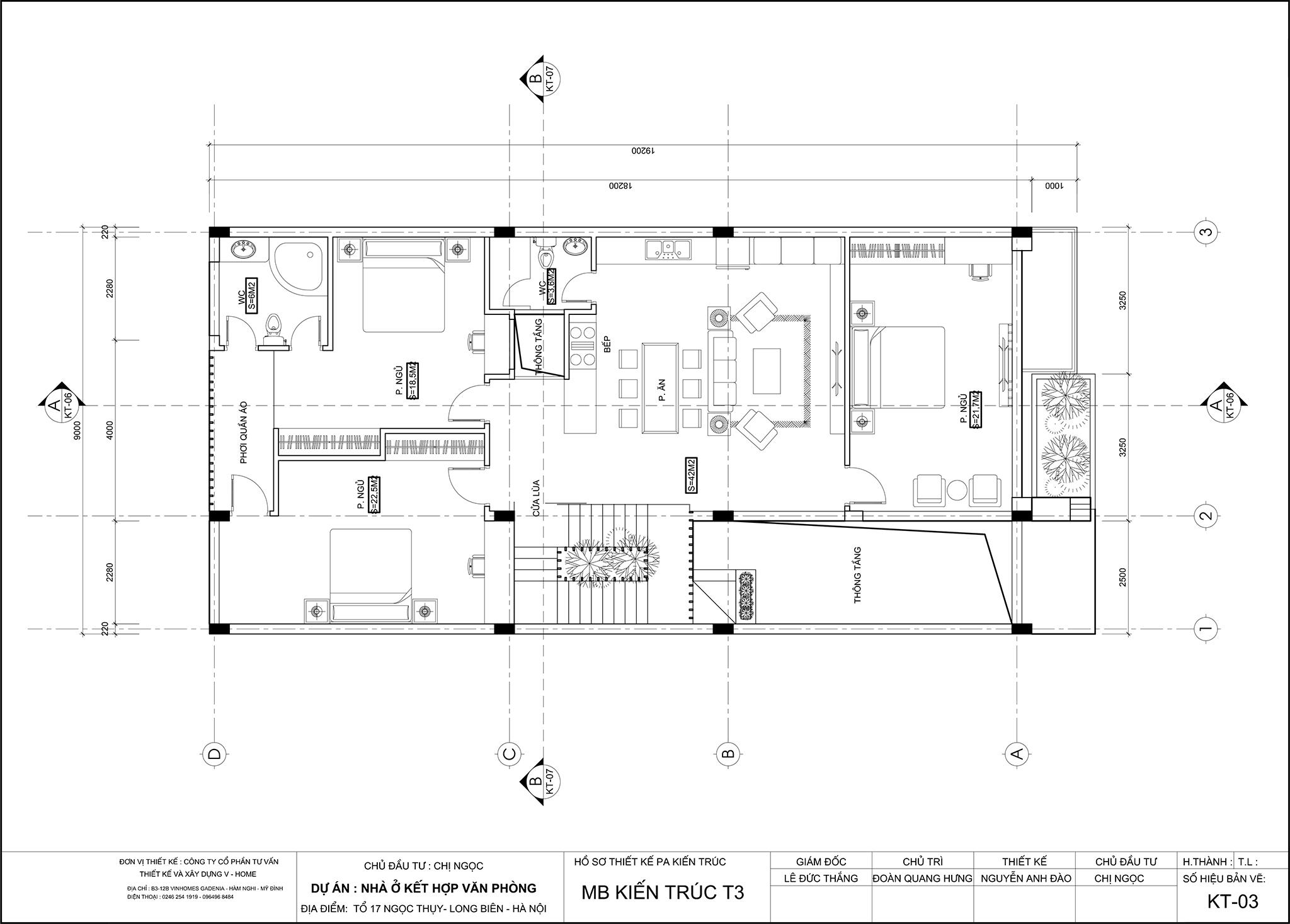 thiet-ke-nha-lo-pho-6 Thiết kế nhà lô phố tại Long Biên - C. Ngọc