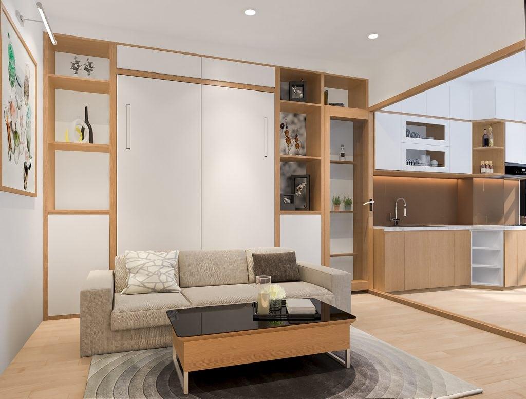 thiet-ke-officetel-11-1024x776 Phong cách nội thất hiện đại trong thiết kế nhà ở hiện nay