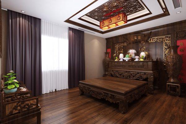 tủ thờ Phật trong thiết kế nội thất