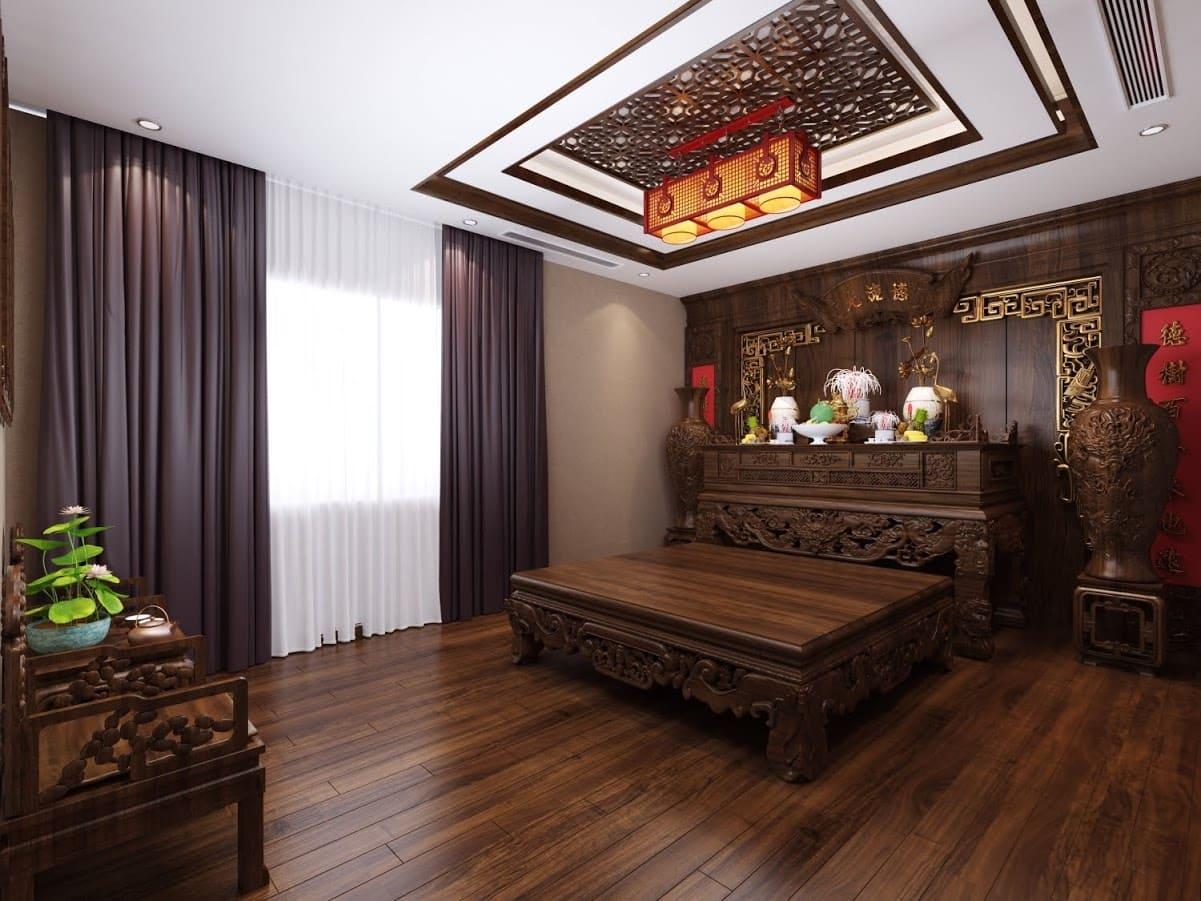 9.thiet-ke-biet-thu-trang-an-complex-22 Tìm hiểu về tủ thờ Phật trong thiết kế nội thất